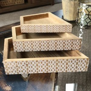 3 Piece Wooden Drawer Organizers or Display
